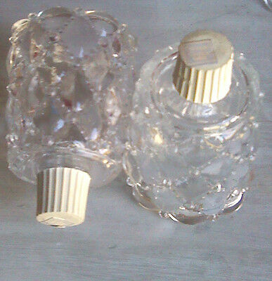 Partylite Quilted Crystal Peglights Glass Candle Holder Votive Cup CCC 4 Avail