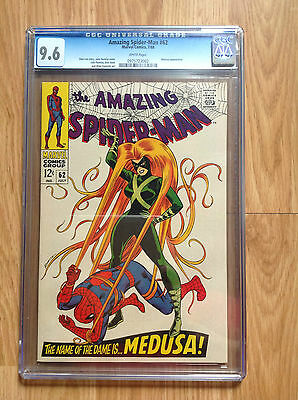 The Amazing Spider-Man #62 (1968 Marvel) CGC NEAR MINT+ NM+ 9.6 WHITE PAGES!