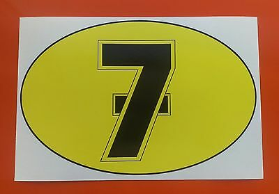 BARRY SHEENE number 7 Motorcycle  sticker decal  205mm x 135mm