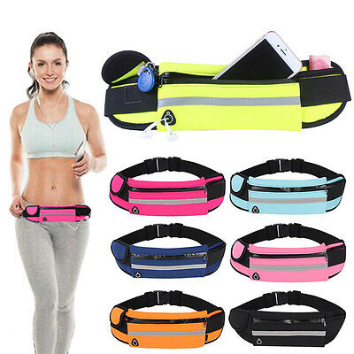 Waterproof Sport Travel Hidden Waist Phone Bag Case Money Belt Holder Pocket