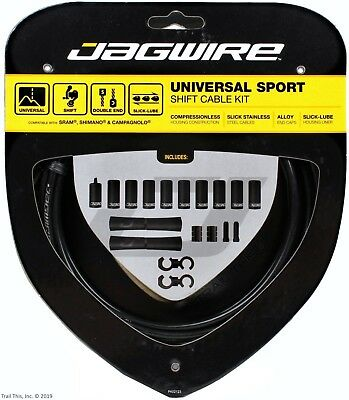 Jagwire Universal Sport Shift Cable & Housing Kit fits SRAM Shimano Bike - Black