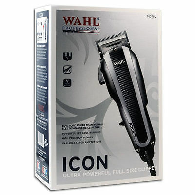 Wahl Icon Professional Hair Clipper 8490-900 Full Size Barber Salon Haircut