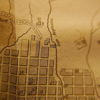 Antique Bogota Colombia map 1820s Great condition Very scarce