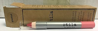 Lot of 2 Stila Lip Glaze Stick & Pencil Sharpener - Grapefruit