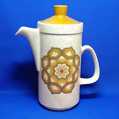 Vintage Royal Worcester PALISSY - KALABAR - COFFEE POT with LID - 1970s RETRO