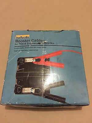 Halfords Booster Cables For Petrol Engine Up To 20000 CC 3 Metre Length 16mm