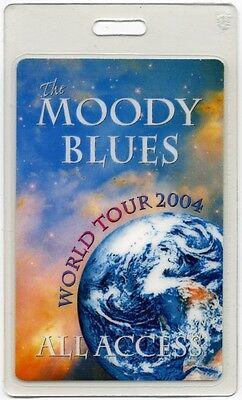 Moody Blues authentic 2004 concert tour Laminated Backstage Pass