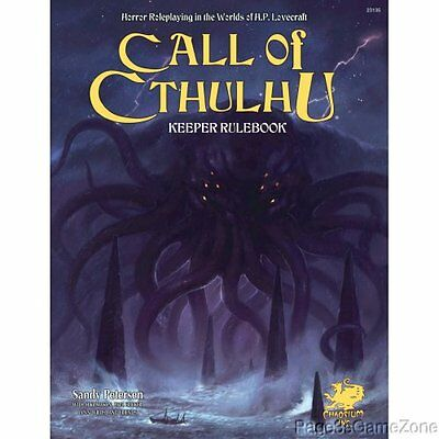 Call of Cthulhu RPG Keeper Rulebook 7th Horror Roleplaying Game Core HC Lovecra.