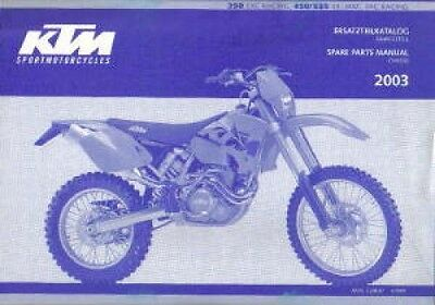 KTM owners service manual 2003 250 EXC RACING, 450/525 SX, MXC, EXC RACING