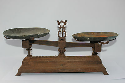 Force 10kg scales French Brocante buy Old kitchen weighing cast iron Decor Chic