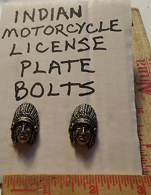 Vintage Indian motorcycle license plate bolts collectible old USA cycle tag bolt