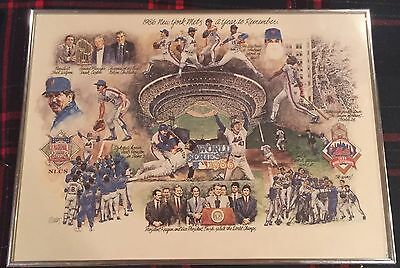 1986 Ny Mets World Series Lithograph Litho, A Year To Remember Framed