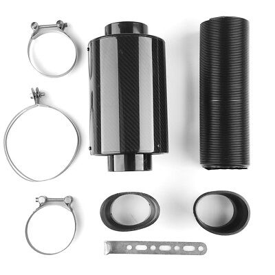 "Universal 3"" Filter Box Title Carbon Fiber Induction Ram Cold Air Intake System"