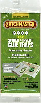 3x Catchmaster Baited Spider & Insect Glue Traps (4 traps)