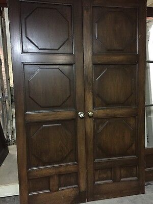 "French doorsWood Double Doors 83x25"" Spanish Interior Poet Rod Mckuen Estate"