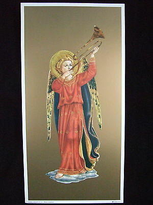 FRA ANGELICO Angel Playing Trumpet Music Art Print Picture - ready to be framed