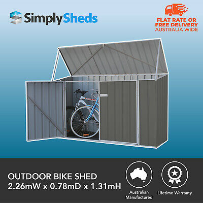 Absco Garden Sheds Storage Outdoor Bike Shed 2.26m x 0.78m x1.31m WOODLAND GREY