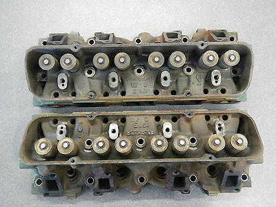 Buick 300 Cubic Inch Engine Cylinder Heads Cast Iron Head Pair 1965 1966 1967
