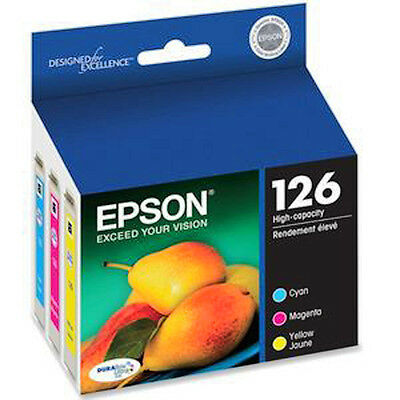 2018 Epson 126 Color set T1262 Cyan T1263 Magenta T1264 Yellow Genuine Ink