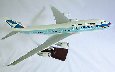 CATHAY PACIFIC LARGE DISPLAY PLANE MODEL  47 x 45cm AIRPLANE SOLID RESIN