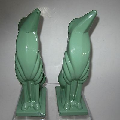 Frankart greyhound dog art deco greenie bookends all metal a pair made in USA