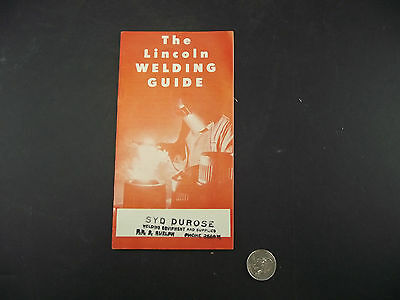Lincoln Welding Guide Syd Durose Guelph Ontario Brochure 1953