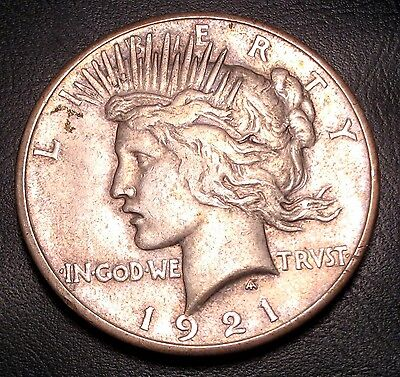 Old Us Coins Rare 1921 Silver Peace Dollar  Keydate Free Shipping