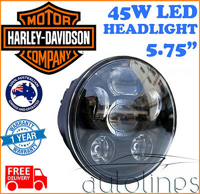 Harley Davidson 45W LED CREE Motorcycle Bike Black Projector Headlight Lamp Bulb