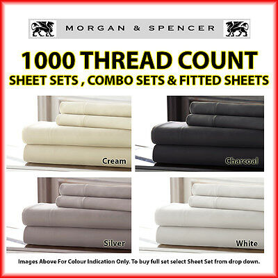 New Morgan And Spencer 1000 Thread Count Sheet Sets| Fitted Sheet| Combo Sets