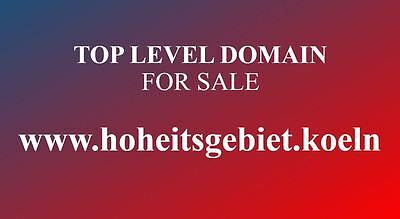 TOP LEVEL DOMAIN TLD...www.hoheitsgebiet.koeln...Köln...new brand for cologne