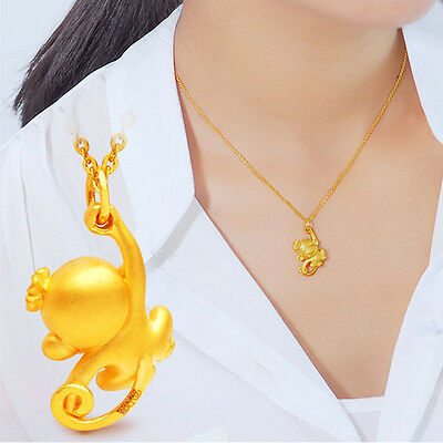 Gold Plated Animal Pendant Short Monkey Chain Necklace The 12 Chinese Zodiacs