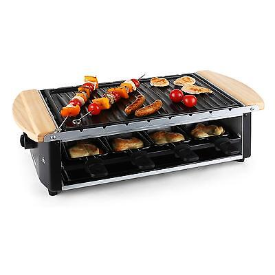 Raclette Grill Anti Adhesif Brochettes 8 Poelons Barbecue De Table 1200W Neuf