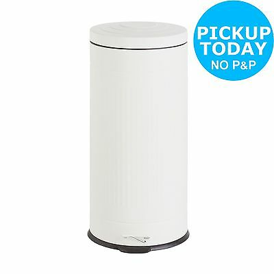 Collection Rib Design 30 Litre Pedal Bin - Cream. From the Argos Shop on ebay