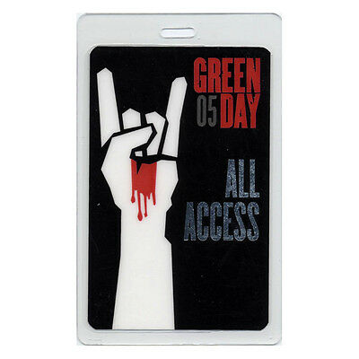 Green Day authentic 2005 concert tour Laminated Backstage Pass