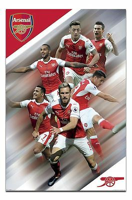 Arsenal FC Players 2016 - 2017 Poster New - Maxi Size 36 x 24 Inch