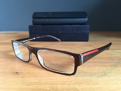 Prada Glasses Frames Men's VPS 01A Brown Complete with Case & Box