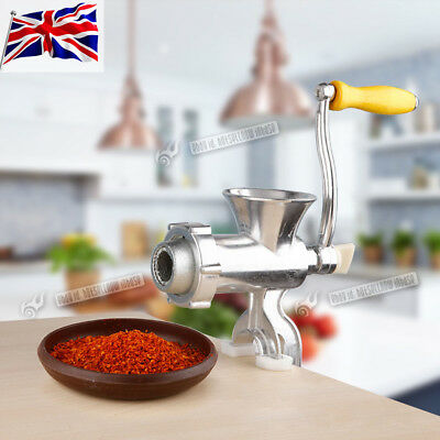 Cast Iron Heavy Duty Manual Meat Grinder Mincer Table Hand Crank Tool Kitchen