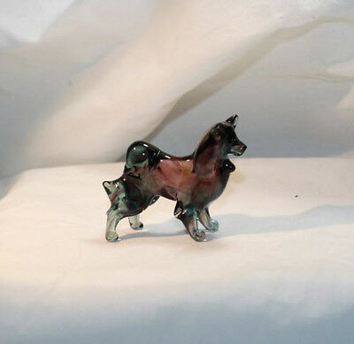 Art Blown Glass Murano Figurine Glass  Samoyed #1