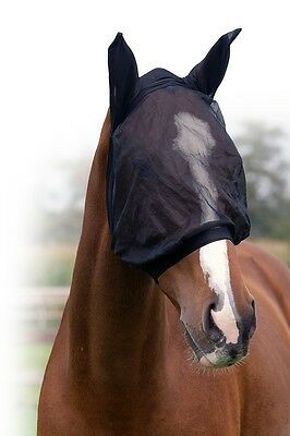Fly mask fly mask hood QHP Lycra elastic Size Warmblood very stable