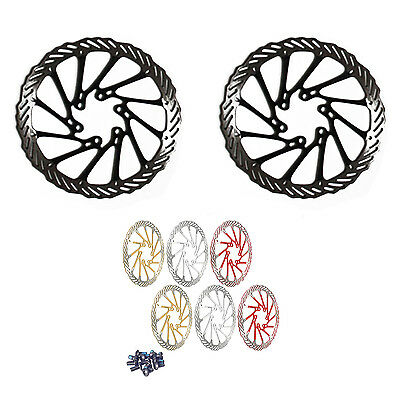 2 x MTB Bike Stainless Steel Disc Brake Rotor 160mm with 12 Bolts Set White FK