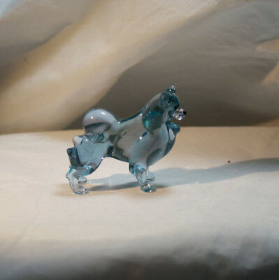 Art Blown Glass Murano Figurine Glass  Samoyed #2