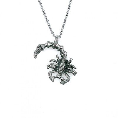 Pewter Scorpion Pewter Necklace Stainless Steel Chain