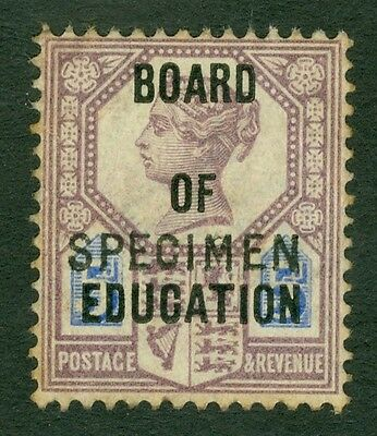SG 081 5d dull purple Board of Education. Overprinted specimen. Mounted mint...