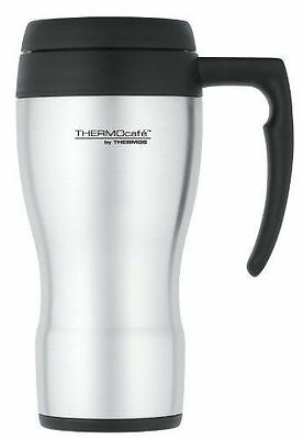 Thermos ThermoCafe 430 Insulated Stainless Steel Travel Mug 450ml Car Cup Hand