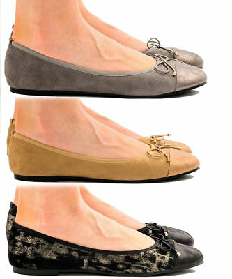 bceb9d4d603 Girls Womens Ballerina Ballet Dolly Pumps Ladies Flats Loafers Shoes UK  Size 3-8