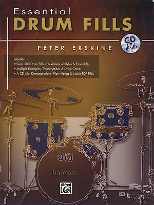 Essential Drum Fills Music Book & CD by Peter Erskine