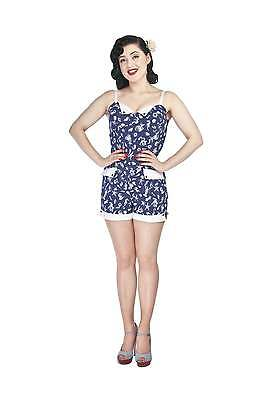 Collectif Vintage Futura Sea Shell Playsuit (S)