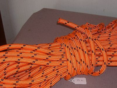 "Double Braid Polyester 1/2""x 75 feet arborist rigging tree rope roofer safety"