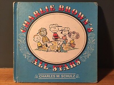 Charlie Brown's All Stars First Edition RARE Vintage Book 1966 Peanuts Snoopy