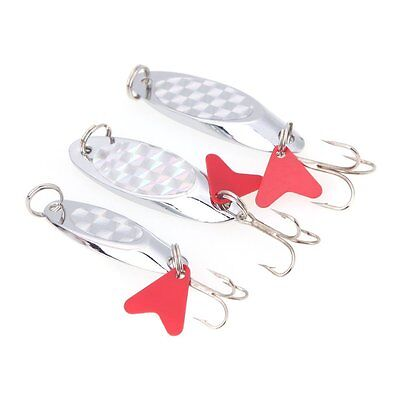 2X(5cm/15g Fishing Spoon Lure Sequin Paillette Metal Hard Bait Hook Tackl 20CF)